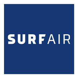 SurfAir reversed logo