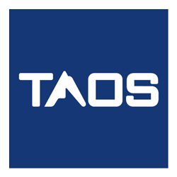 Taos reversed logo